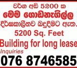 Negambo Newly made Building for Long Lease