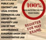 LAW CLASSES with 100% pass rate in the last 4 years