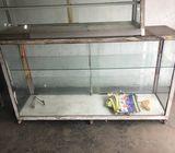 Aluminum showcase and tables