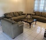 Used Sofa set with three coffee  tables n small writing table