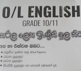 English language home tutor for O/L and A/L students