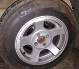 13 alloy wheel short stud