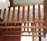 Used wooden baby cot
