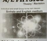 AL Physics Home visit classes