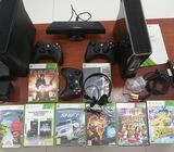 Two X-Box 360 S Game Consoles for Sale with Kinect Sensor.