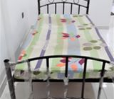 Slightly used detachable steel beds for sale