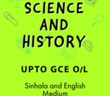Upto GCE O/L - Maths, Science and History - Sinhala and English Medium