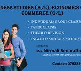 Business Studies(A/L), Economics(A/L), Commerce(O/L) English & Sinhala Medium Classes