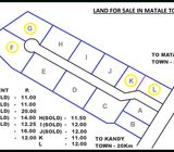 Land for sale in Matale facing kandy road.