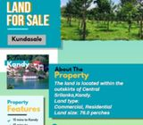 LAND FOR SALE IN KUNDASALE