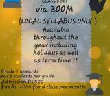 English and mathematics virtual class 2021