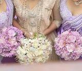 Wedding saree and goingaway frock for sale