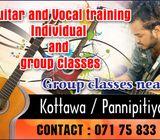 Guitar and Vocal training