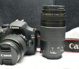 Canon 1200D + 18-55mm Lens + 75-300mm Lens + Godox TT350C Speedlight