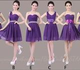 New Fashion Purple Bridesmaid/Party Dress