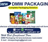 ALL KIND OF HIGH QUALITY POLYTHENE PRINTING
