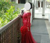 bridal frock (home comming dress red)