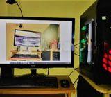 CORE- I5 -9TH GEN-DEKSTOP COMPUTER WITH MONITER