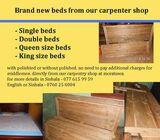 New wooden beds for sale, ලී ඇඳන් ඔඩර්ස් බාරගනු ලැබේ.