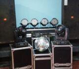 DJ full setup with lights.