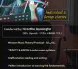 Western Music & Violin classes conducted by: Hirantha Jayasinghe (Bachelor of Performing arts (Speci