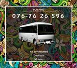 Rosa bus for hire Matara