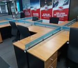 Office Workstation and Executive Table with ,Hight back Chair,   Office Workstation = Number of  10