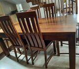 Modern Teak dining table set