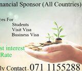 Financial Sponsorship for all VISA category