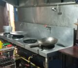 4 stove high Pressure burner for sale with Exhaust Collector + fan