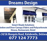 Fabric and polycarbonate canopies