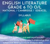 English Literature and English Language Classes