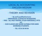 local ol & al -accounting - english medium