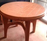 Plastic table and six plastic stool