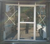 Aluminium Frame Glass Partition with Door (12' X 88