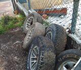 Pejero alloy weel set with tyre
