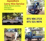 Anuradhapura Lorry Hire- Jayasekara Transport Service