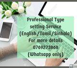 Type setting
