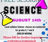 Science classes for grade 6,7 and 8