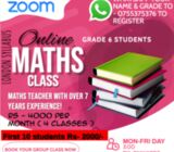 Maths class for children from grade 2 - 8 . London syllabus.