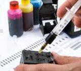 Printer cartridge ink refil