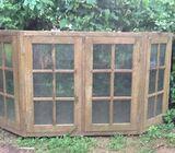 Window frame set with doors