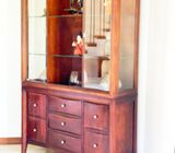 Top Lit Glass Display Cupboards with Drawers