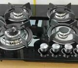 Den-B 4 Burner Glass Top Gas Cooker Top